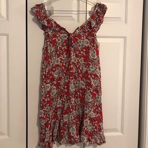 A&E red floral sundress